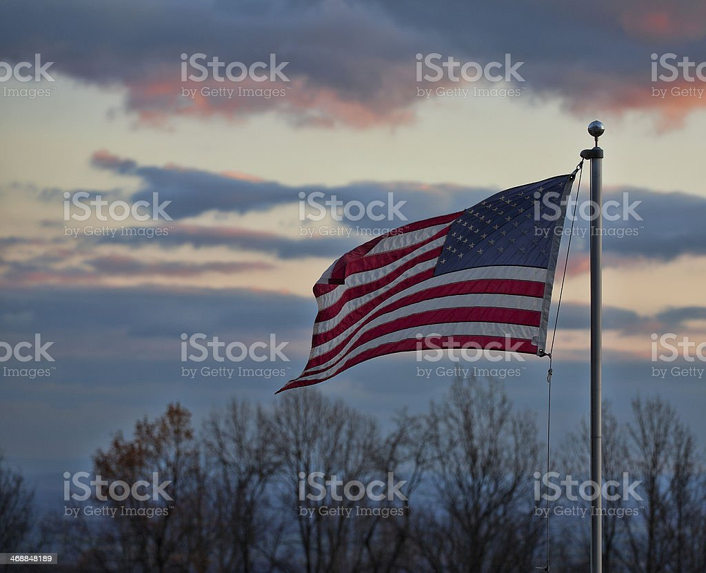 Waving flag stock photo