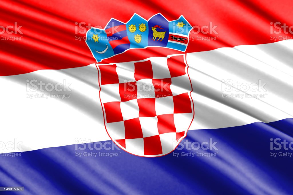 waving flag - foto stock