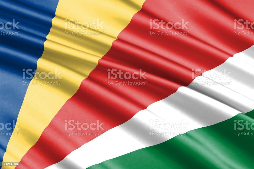 waving flag stock photo