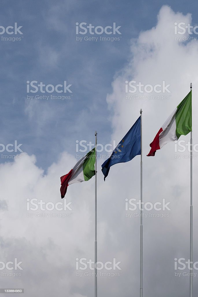 waving flags royalty-free stock photo