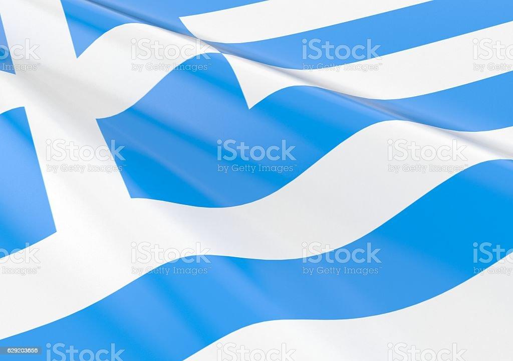 Waving greece flag - foto de stock