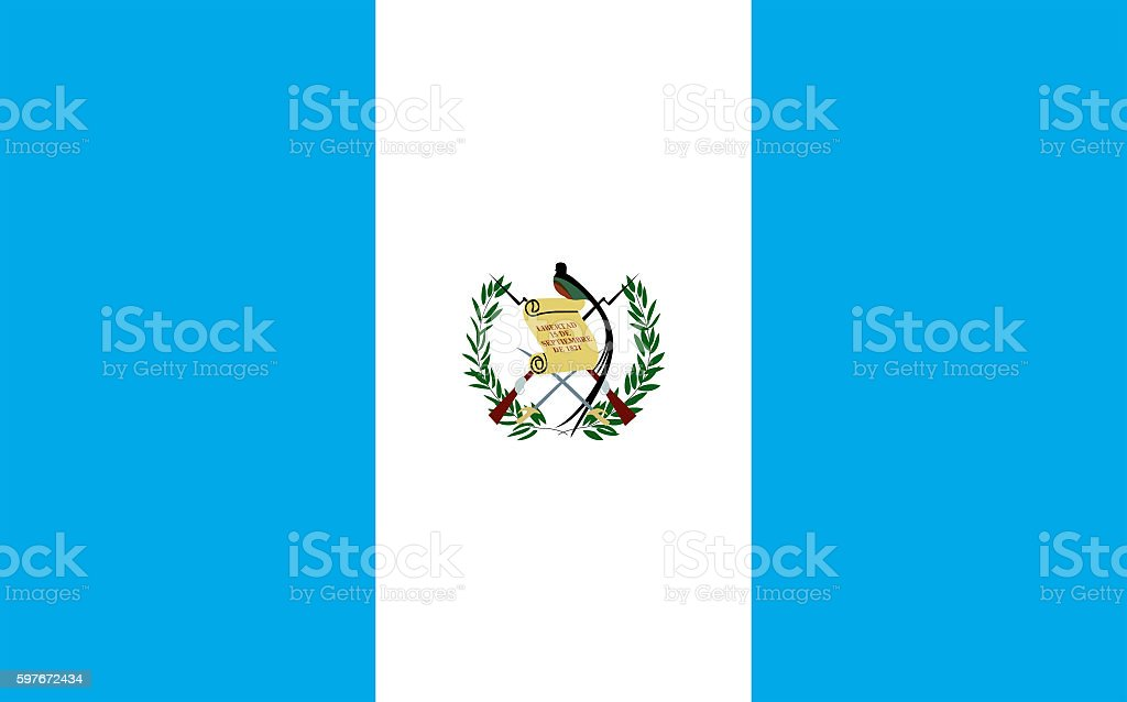 waving guatemala flag in wind - foto de stock