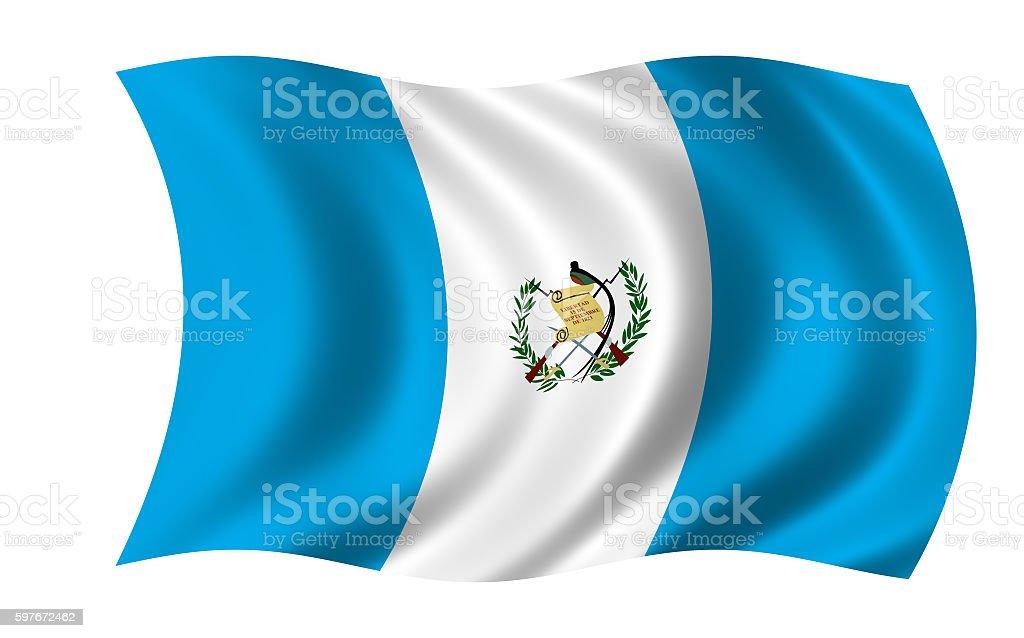 waving guatemala flag in wind - foto de stock