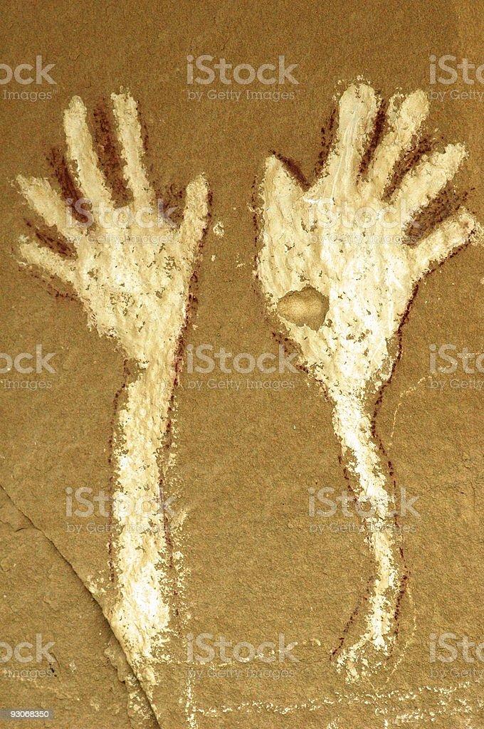 Waving Hands royalty-free stock photo
