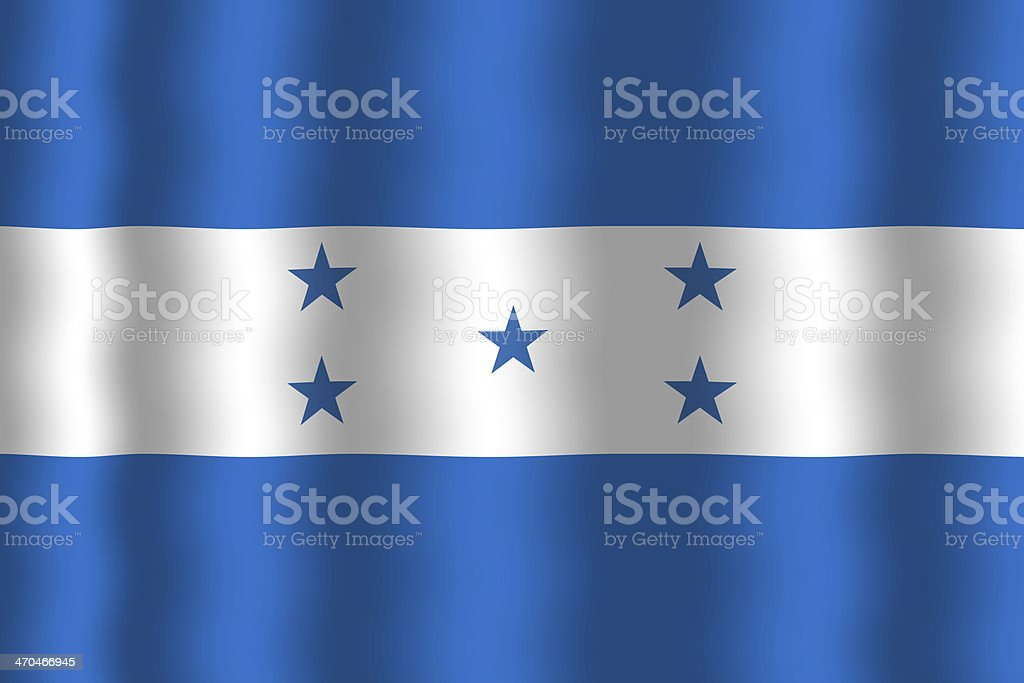 Waving Honduras Flag royalty-free stock photo