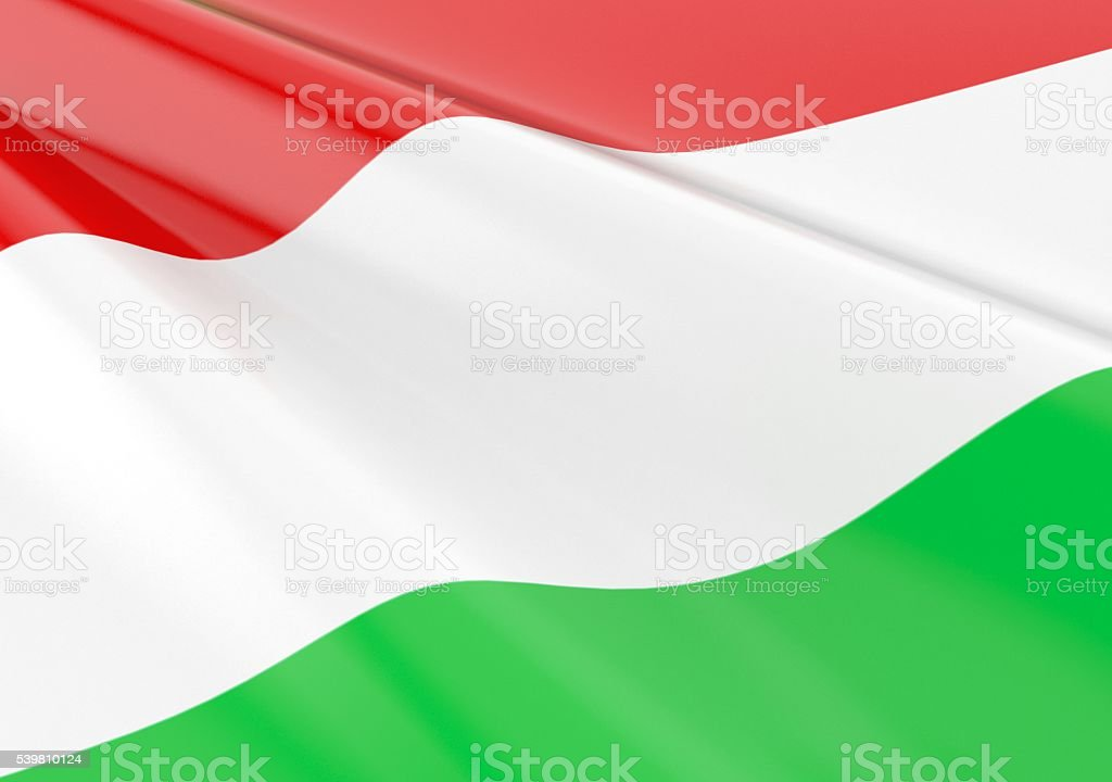 Waving hungarian flag stock photo