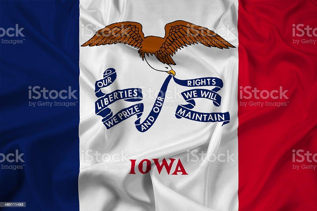 Waving Iowa State Flag stock photo