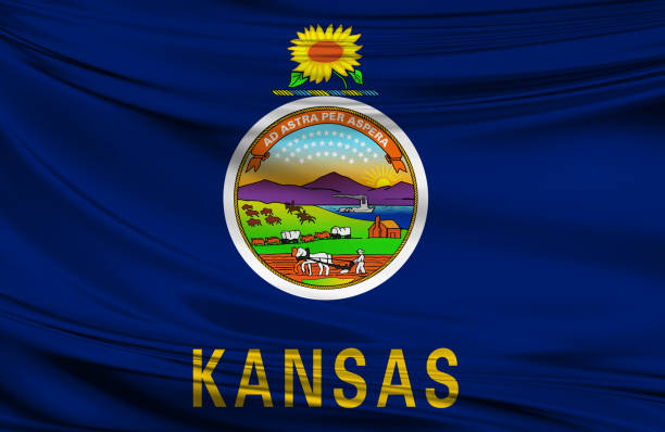 waving kansas state flag stock photo 686250676 istock