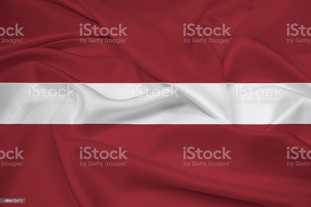Waving Latvia Flag stock photo