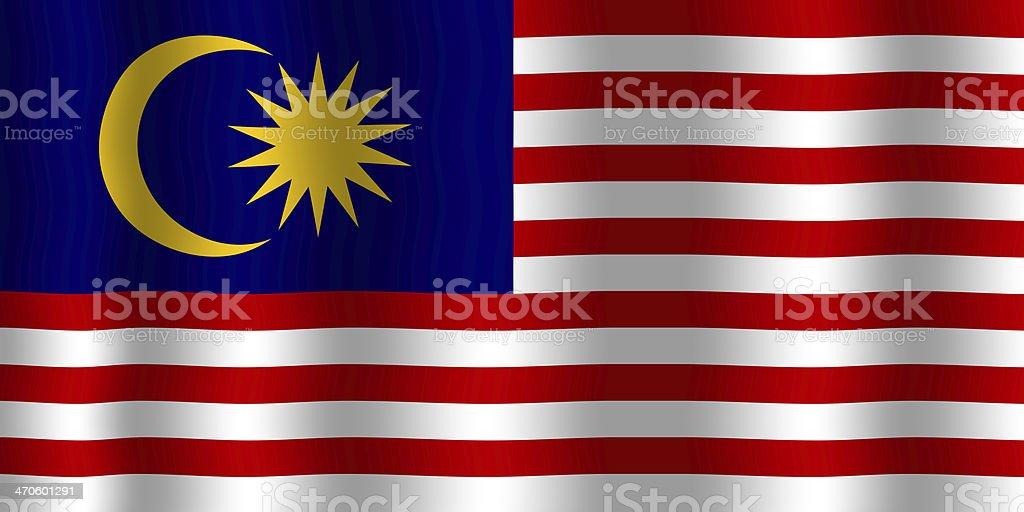 Acenando a bandeira da Malásia - foto de acervo