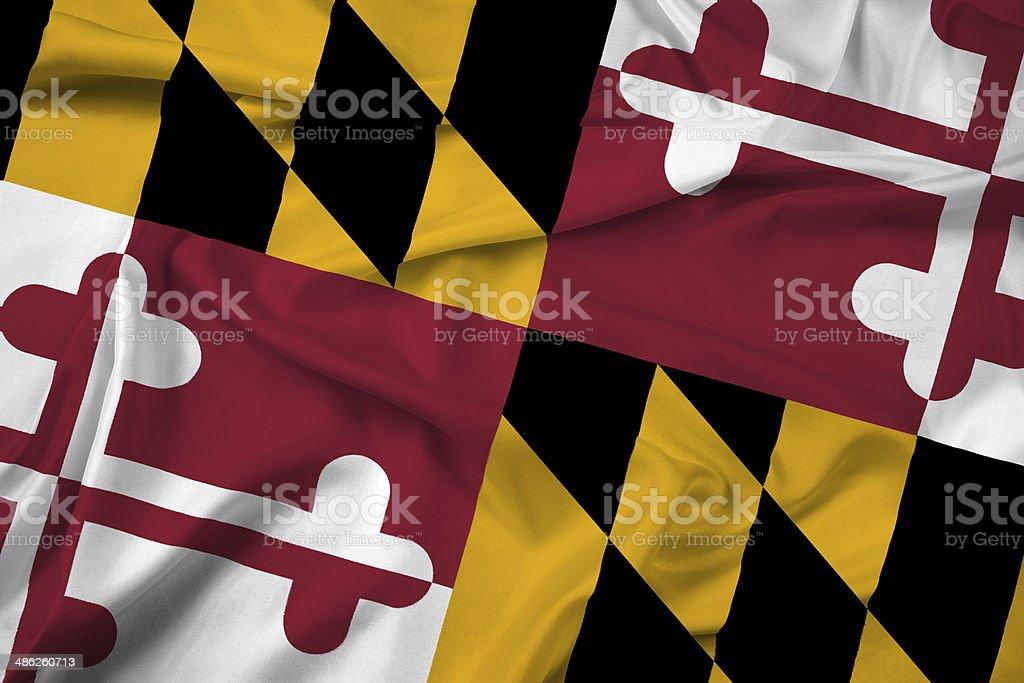 Waving Maryland State Flag stock photo