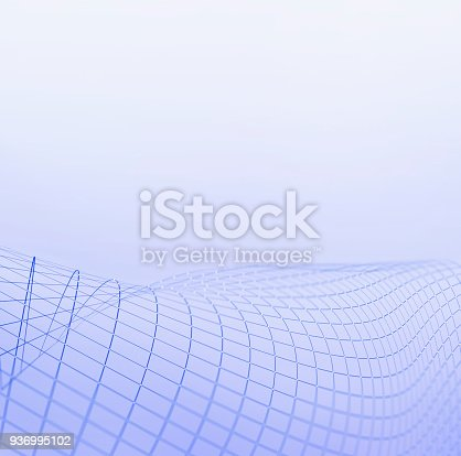 istock Waving mesh background 936995102