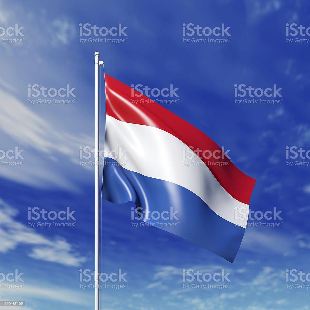 Waving  Netherlandish flag stock photo
