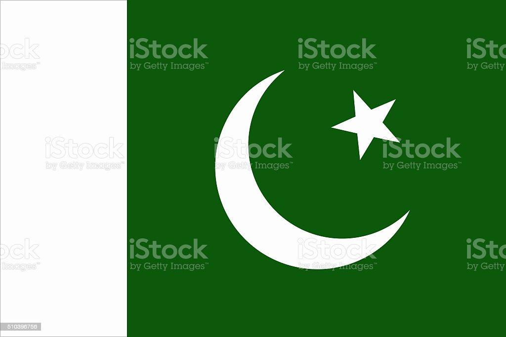 waving pakistani flag in wind stock photo