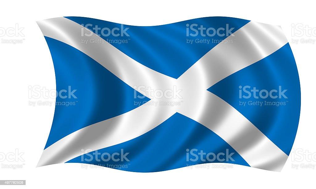 waving scottish flag stock photo