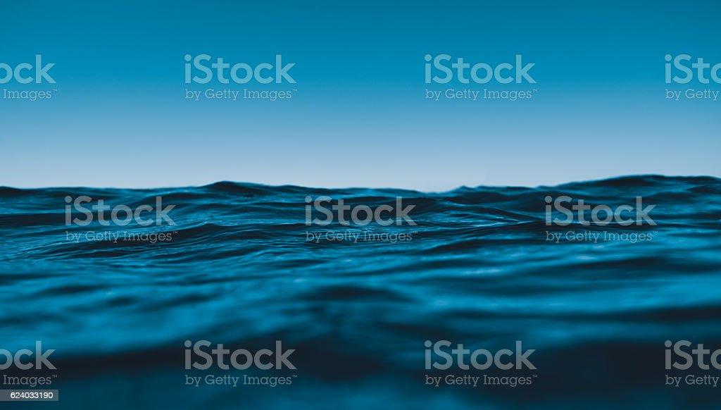waving sea stock photo