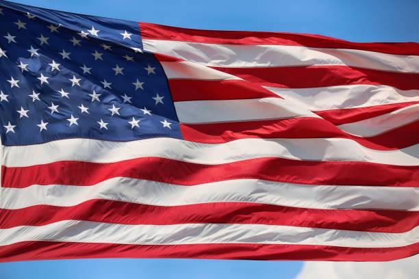 Winken Sterne und gestreiften amerikanische Flagge, USA – Foto
