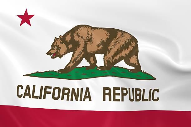Waving State Flag of California - foto de stock