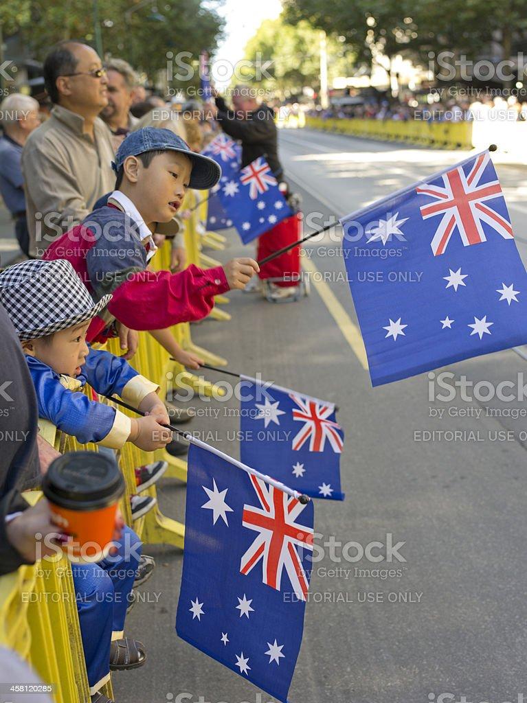 Waving the Flag royalty-free stock photo