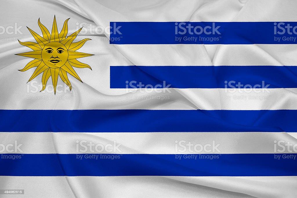 Waving Uruguay Flag stock photo