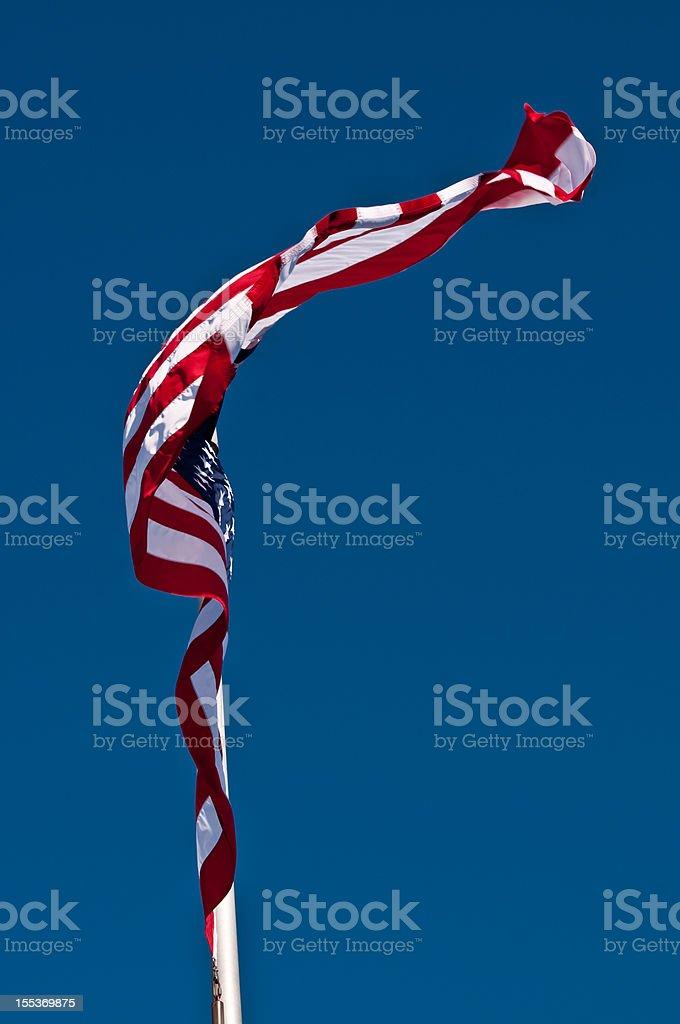 Waving US Flag royalty-free stock photo