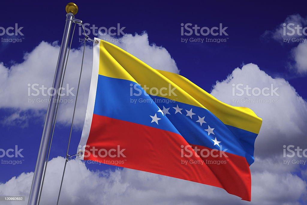 Agitando bandera venezolana - foto de stock