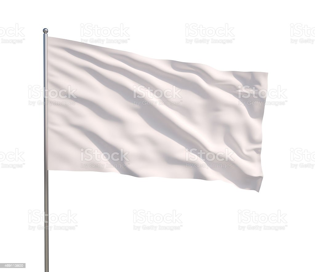 Waving white flag stock photo