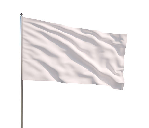waving white flag - flag stock photos and pictures