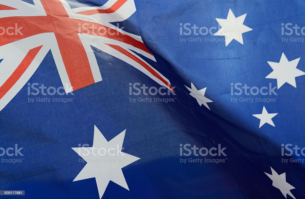 wavy Australia flag stock photo