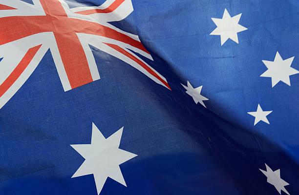 Wellenförmige Australien Flagge – Foto