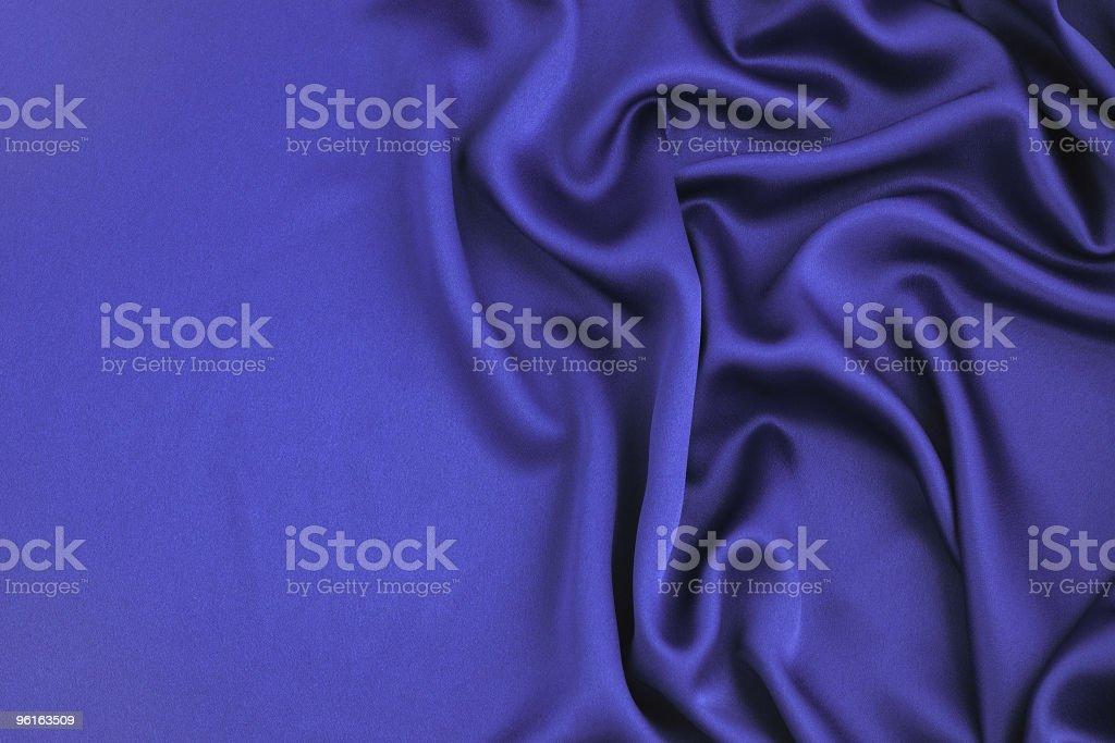 Wavy blue satin royalty-free stock photo