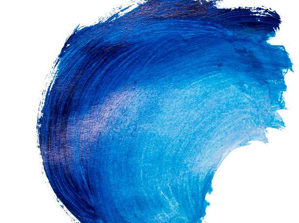 Wavy brushstroke painted with acrylic paints stock photo