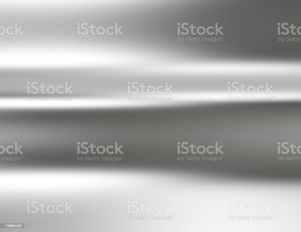 Wavy chrome colored surface background stock photo