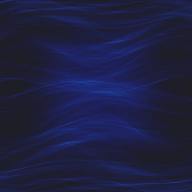 Wavy dark blue abstract background - foto stock