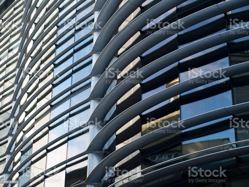 Wavy facade stock photo