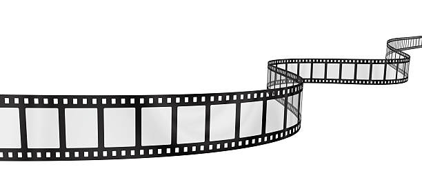 wavy filmstrip stock photo
