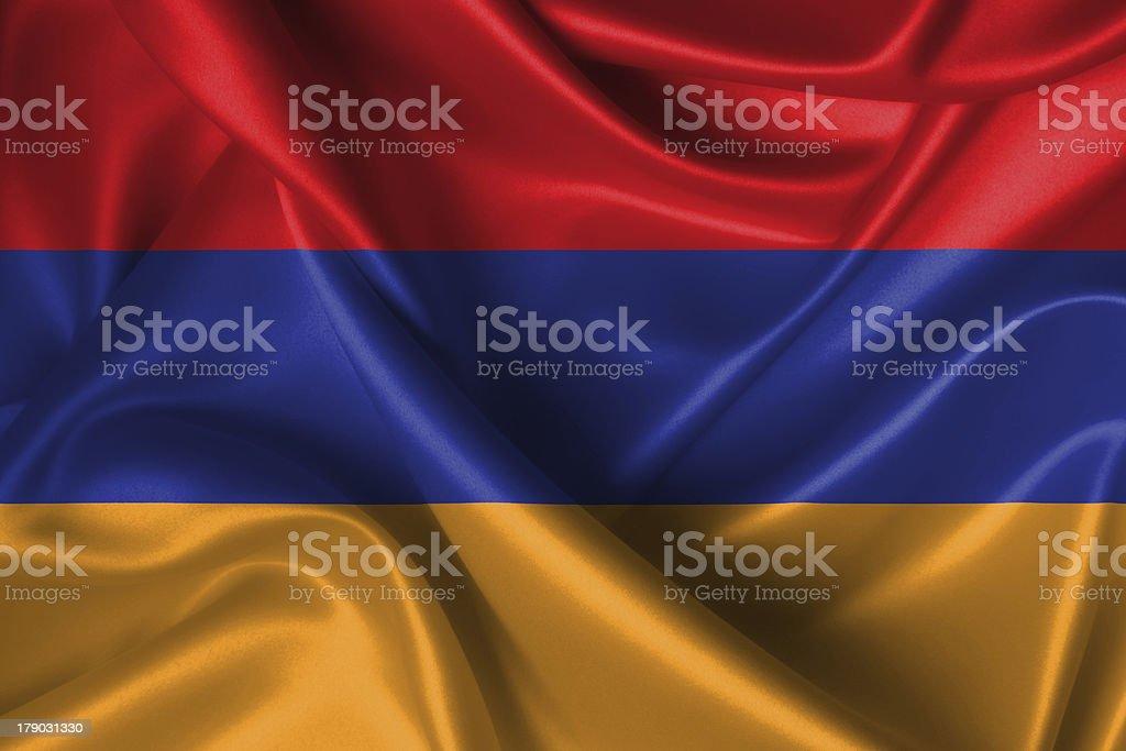 Wavy Flag of Armenia royalty-free stock photo