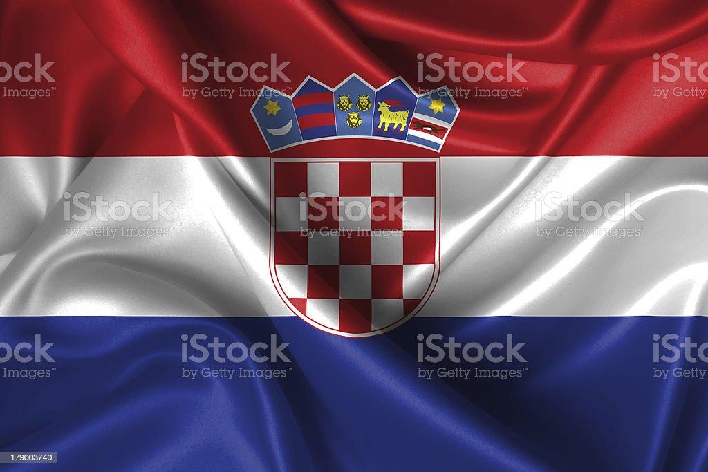Ondulato Bandiera della Croazia - foto stock