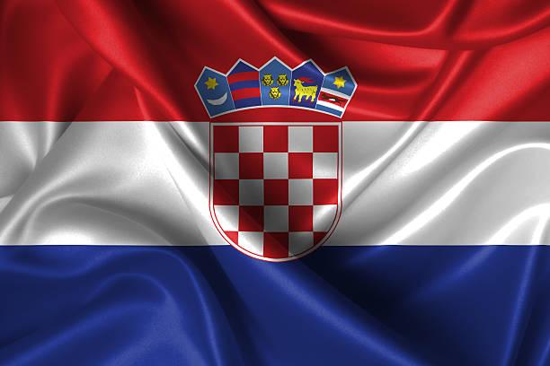 Ondulado bandeira da Croácia - foto de acervo