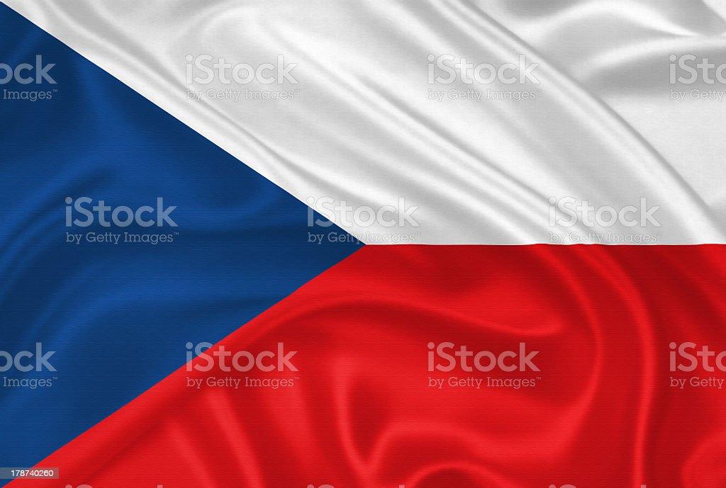 Bandera de la República Checa - foto de stock