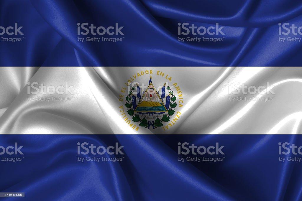 Wavy Flag of El Salvador royalty-free stock photo