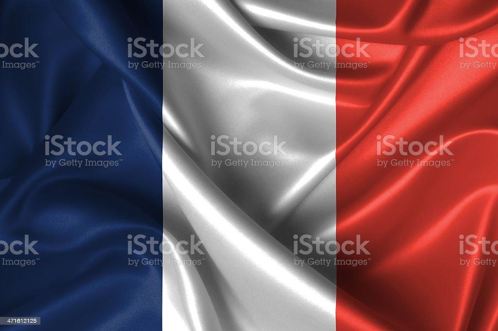 Wavy Flag of France royalty-free stock photo