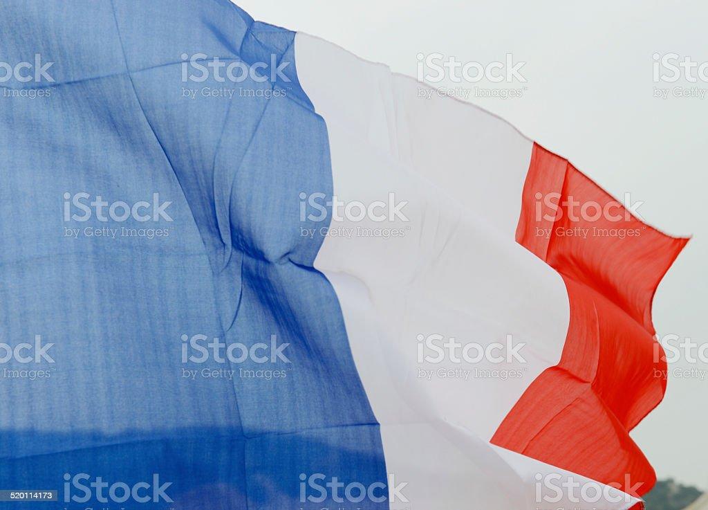 wavy France flag stock photo