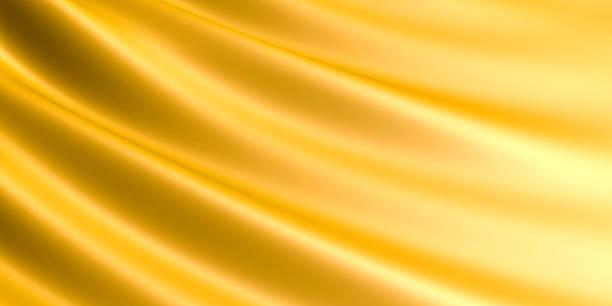 Wellenförmige Golden Stoff Hintergrund. – Foto