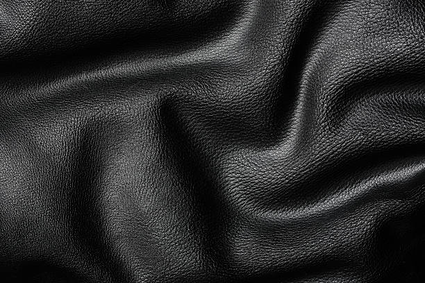 wavy leather wavy leather texture for backgrounds leather jacket stock pictures, royalty-free photos & images