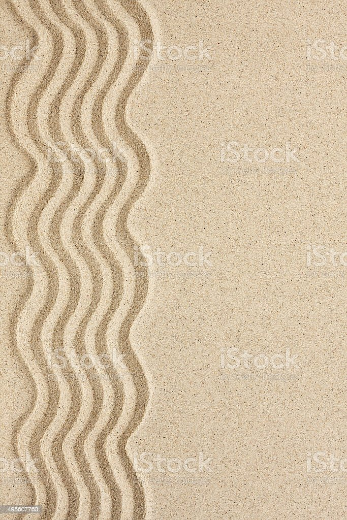 Wavy sand with space for text stock photo