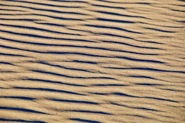 Wavy Textured Sand stock photo