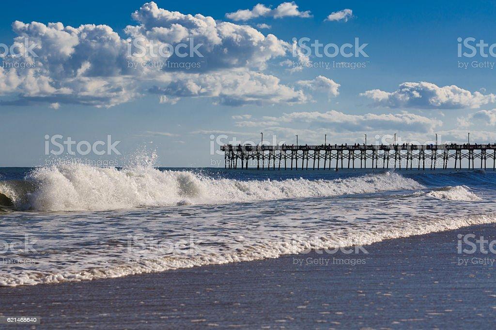 Wavy Topsail beach. stock photo