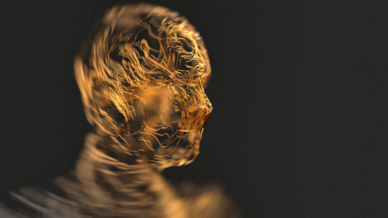 istock Wavy wires in a human shape 1184219346