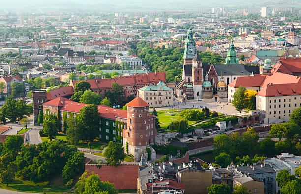 Wawel Castle in Krakow, Poland stock photo